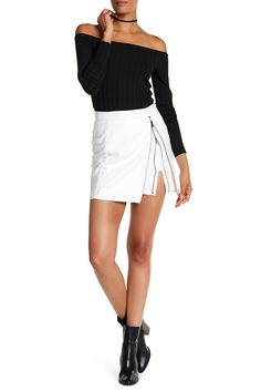 Ski Lift Zip Mini Skirt