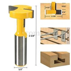1/2'' Shank  T-Slot & T-Track Slotting Router Bit For Woodworking Chisel…