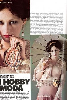 Vogue Italia July/August 1973 Un Hobby di Moda Photo Carlo Orsi Model Isabelle Weingarten Hair Morris Mouse