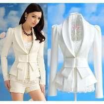 Saco Blazer Mujer Chaqueta Blanco Abrigo Envio Gratis