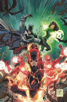 Flash, Batman & Jessica Cruz.