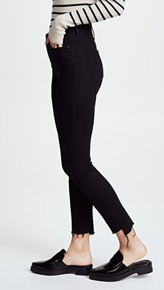 80720439af MOTHER The Stunner Step Hem Ankle Jeans Hem Jeans