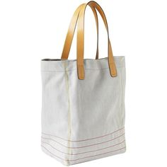 Gap Contrast Stitch Tote Size One Size (96 BRL) ❤ liked on Polyvore featuring bags, handbags, tote bags, gap purse, handbags totes, top handle purse, top handle handbags and tote purse
