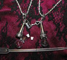 The Eternal Blood Bond Necklace Set – His Hers Empty Self Fill Glass Vials Vial Necklace, Arrow Necklace, Grunge Accessories, Blood Art, Accesorios Casual, Glass Vials, Jewelry Supplies, Perfume Bottles, Jewels