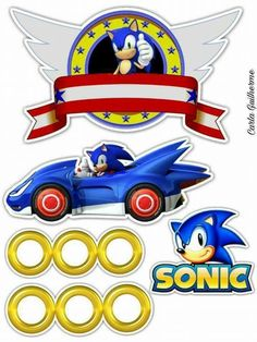 Sonic Birthday Cake, Sonic Birthday Parties, Sonic Party, 7th Birthday, Birthday Games, Bolo Sonic, Sonic Cake, Sonic Team, Hedgehog Birthday