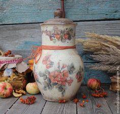 """Купить """"Сентябрин"""" крынка - бежевый, оранжевый, крынка, глина, глиняная посуда, осень, осенний"""