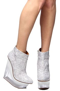 The Icy Shoe in White Patent