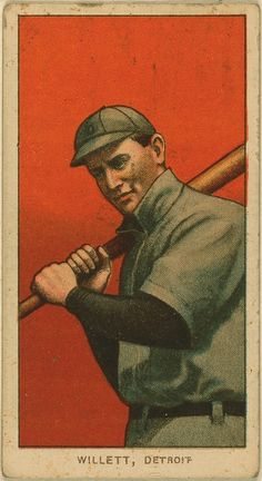 baseball card, Ed Willett - Detroit Tigers
