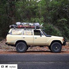#Toyota #LandCruiser #FJ60 #FJ60LandCruiser #ToyotaLandCruiser Toyota Land Cruiser, Land Cruiser 80, Toyota 4x4, Toyota Trucks, 4x4 Trucks, Carros Toyota, Off Road Adventure, Adventure 4x4, Wheels On The Bus