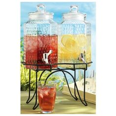 nice Home Essentials 1842 Del Sol 1 Gallon, 2 Hammered Jug With Rack,  #HomeEssentialsJuicers&Blenders