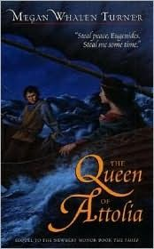 The Queen of Attolia (The Queen's Thief, #2) Also, this is my favorite cover.