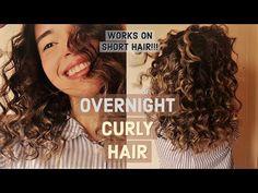 Short Hair Curls No Heat Rosa - heatless curls Overnight Curls Short Hair, Heatless Curls Overnight, Overnight Hairstyles, Overnight Waves, Overnight Braids, Heatless Waves, Curl Hair Without Heat, Curls No Heat, Heat Waves