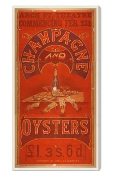 Oliver Gal 'Champagne & Oysters' Canvas Print available at #Nordstrom Sale: $91.90 After Sale: $138.00 	Item #446444
