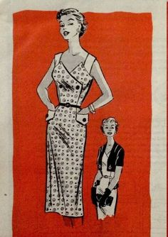 1950s Mail Order 4607 Sundress and Button-On Bolero