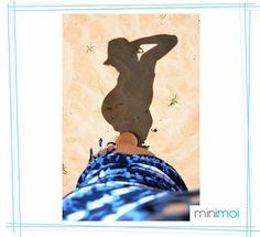 foto sombra embarazada playa - minimoi