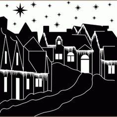 Silhouette Design Store - View Design #71072: village scene