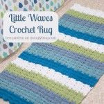 Little Waves Crochet Rug: Free pattern works up in no time.Place a nonslip mat under it to prevent falling.