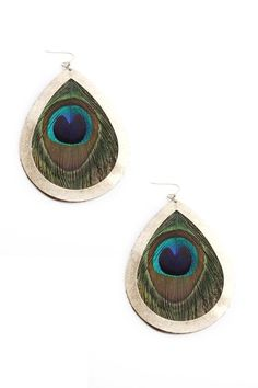 Bohemian Feather Drop Earrings 20% OFF (only @Chictopia) #Chictopiainbloom