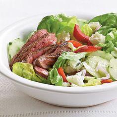 Barbecue Sirloin and Blue Cheese Salad | MyRecipes.com