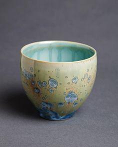 Crystalline Yunomi - Sarah Nikitopoulos. porcelain and crystalline glaze