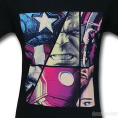 Images of Avengers Age of Ultron Picture Collage T-Shirt