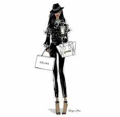 Moda wallpaper fashion illustrations megan hess for 2019 Black Girl Art, Black Women Art, Black Girl Magic, Fashion Art, Editorial Fashion, Love Fashion, Fashion Design, Celine, Megan Hess Illustration