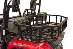 Honda Pioneer 500 Rear Cargo Rack - Honda Pioneer 500 Storage Rack #Pioneer Honda Pioneer 500, Atv Attachments, Cargo Rack, Expedition Truck, Atv Accessories, New Honda, Storage Rack, Airsoft, Donkey