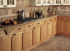 Create a cohesive design in your kitchen by coordinating your backsplash tiles to your flooring! Let our design team help with your kitchen tile project! Painting Kitchen Cabinets, Kitchen Tiles, Kitchen Flooring, New Kitchen, Tile Flooring, Flooring Ideas, Kitchen Stuff, Kitchen Design, Architecture Design
