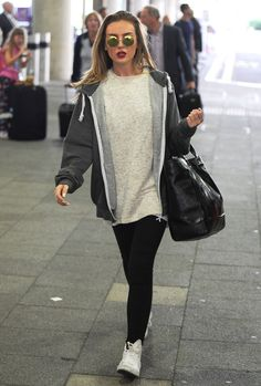 Perrie Edwards arriving at Heathrow Airport - September 6, 2015