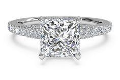 Ritani engagement ring  princess cut