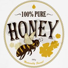 honey label - cute bee                                                                                                                                                     More