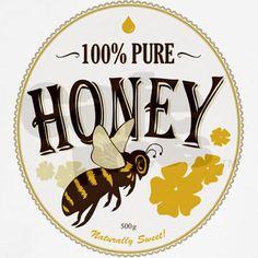 honey label - cute bee                                                                                                                                                     More