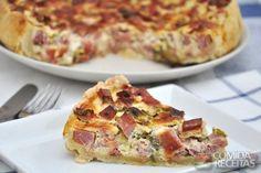 Receita de Quiche de bacon e azeitonas em receitas de tortas salgadas, veja essa e outras receitas aqui!