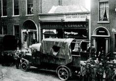 Raid by British Military on Sinn Fein H. Q., Harcourt St., Dublin, September 1919.' (BMH)