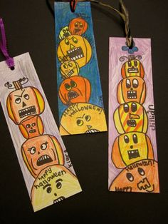 Fill in halloween project - Bookmarks