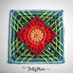 Crochet Squares Afghan, Crochet Blocks, Granny Square Crochet Pattern, Crochet Motif, Free Crochet, Crochet Patterns, Granny Squares, Crochet Afghans, Crochet Blankets