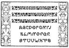 Vector: maori font