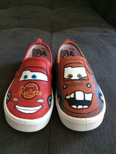 CARS Shoes Mater & Lightning McQueen by iHeartCraftLife on Etsy