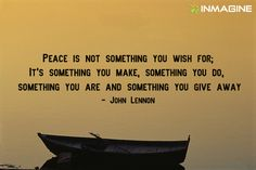 Peace is something you give away... #inmagine #quotes