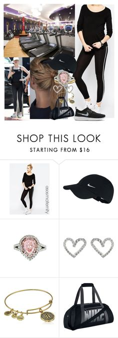 """""""Healthy diet and Exercising  for 1 week with Ailee to loose her pregnancy weight"""" by duchess-rebecca ❤ liked on Polyvore featuring ASOS, NIKE, Diana M. Jewels, VIcenza and Alex and Ani"""