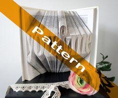 You & Me  DIY Pattern  Original Anniversary gift  by Bookfolding
