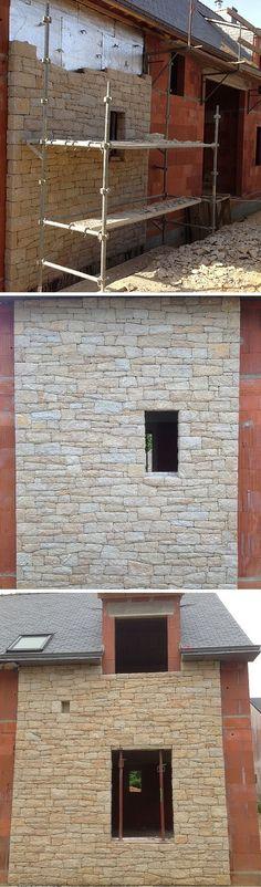 la fa ade en parement murok sierra aux pierres irr guli res fait la part belle l 39 aspect brut. Black Bedroom Furniture Sets. Home Design Ideas