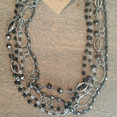 Multi layer chain necklace #HandDesignedElementsOfStyle