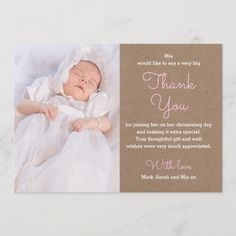 Shop Girl Christening/Baptism Thank You Card created by Inkbelle. Christening Thank You Cards, Christening Invitations, Girl Christening, Thank You Card Size, Custom Thank You Cards, Custom Cards, Baptism Quotes, Appreciation Quotes Relationship, Thank You Greeting Cards