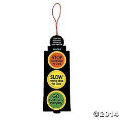 Stop and listen to God, Go God's way, traffic light craft idea