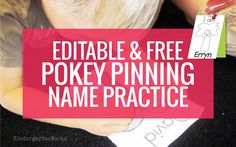 Free Pokey Pin Activity: Chicka Chicka Boom Boom Coconut Tree Name Pinning Page