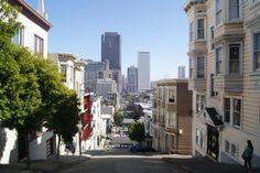 Rolling hills of San Francisco, CA