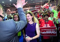 Photos: Chris Murphy Gets Democrats Endorsement for Senate - New Haven Register Media Center New Britain, Campaign Manager, High Five, Media Center, State University, Connecticut, Politics, News, Gold