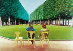 David Hockney - Le parc des sources, Vichy, 1970