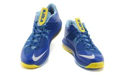 newest e46c1 cf6a4 Nike Air Max Lebron X Low Yellow Blue White Tiffany Blue Nikes, Lebron Shoes  For
